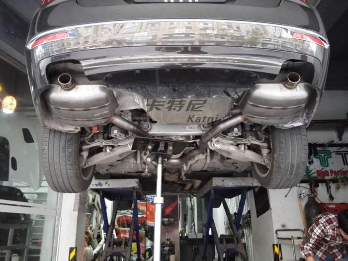 成都宝马525排气改装双边排气高清图片