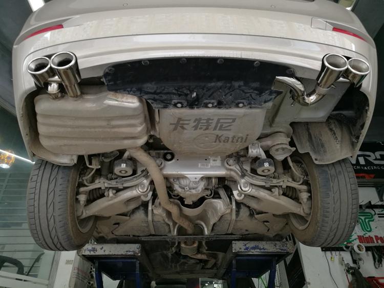 成都宝马5系改装双边排气管