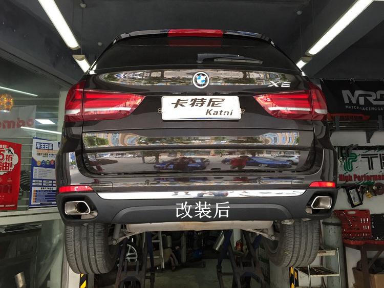 成都宝马X5排气改装方形排气管高清图片