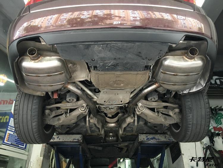 成都宝马528GT改装双边排气管高清图片